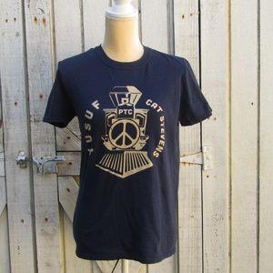 YUSUF CAT STEVENS Peace Train navy t-shirt size S